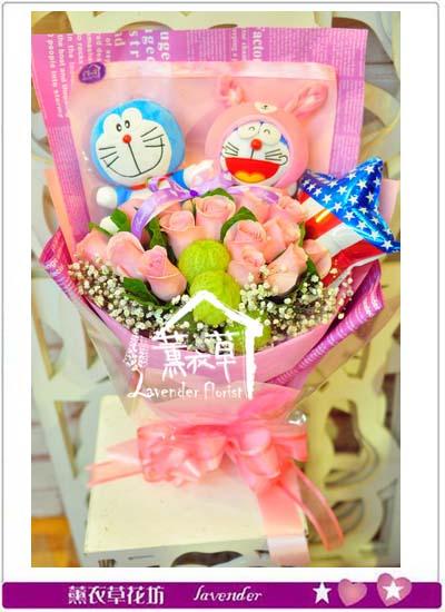 小叮噹&粉玫瑰 花束106020338