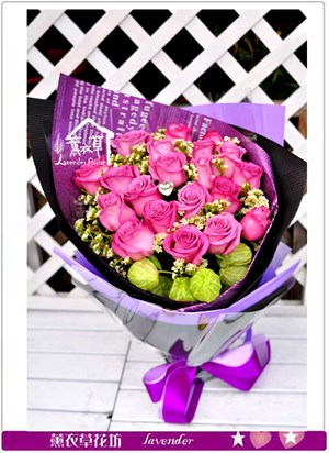 荷蘭進口20朵紫玫瑰c101702