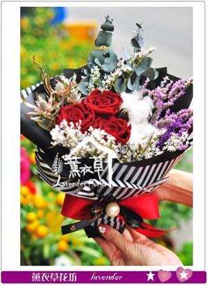 玫瑰花束~不凋花設計106011601