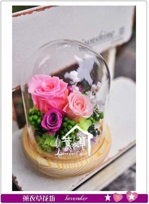 不凋花~歐式玻璃罩設計B110102