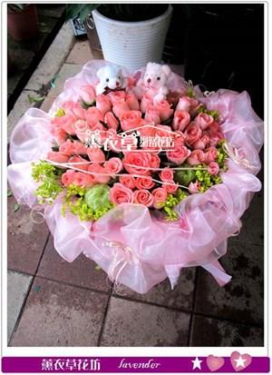 黛安娜玫瑰60朵y34373