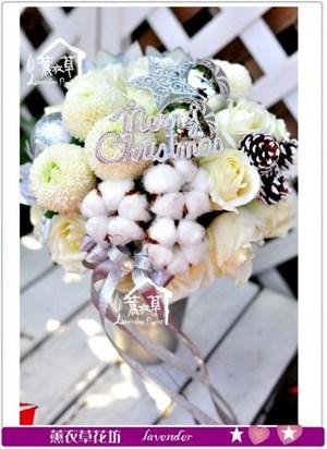 聖誕盆花設計c120818