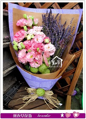 薰衣草&桔梗花束設計c051252
