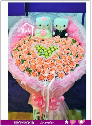 人造花99朵花束a052506