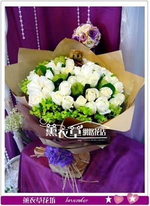 白玫瑰50朵y33120