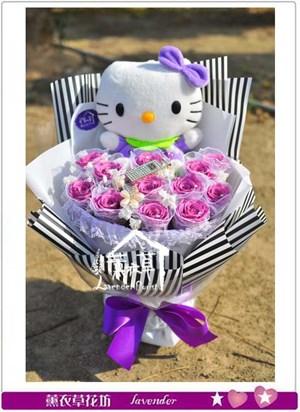 不凋花~紫水晶玫瑰B123002