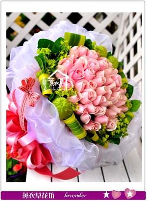 翡翠粉50朵花束c111519