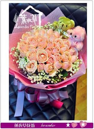 33朵 粉玫瑰設計 106080101