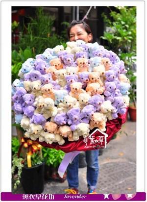 超豪華~99支熊熊花束c070812