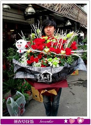 紅玫瑰66朵~特別設計款c031415