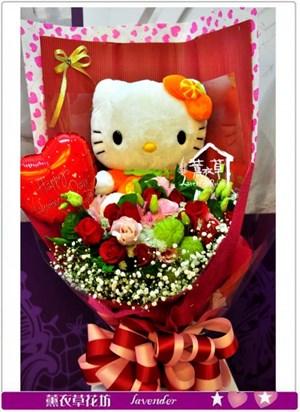 凱蒂貓&鮮花設計c123105