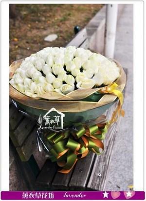 白玫瑰99朵a121725