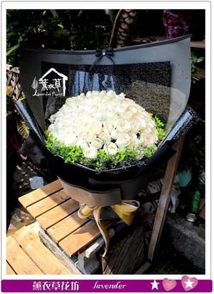 白玫瑰99朵c080317