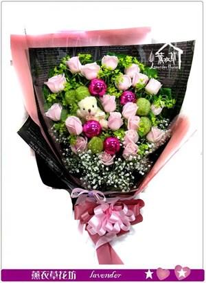 粉玫瑰20朵bb110428