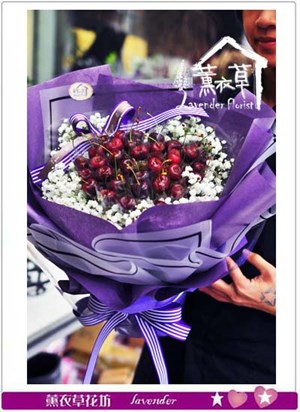 櫻桃花束設計-可以下單106012105