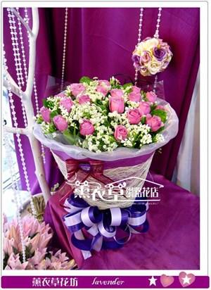 紫玫瑰20朵y3340