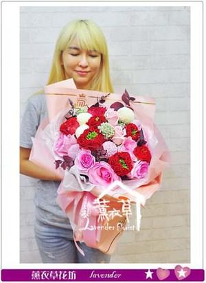 庭園玫瑰花束 106073101