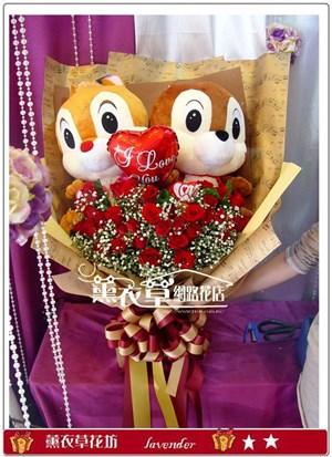 奇奇蒂蒂&33朵玫瑰y32879