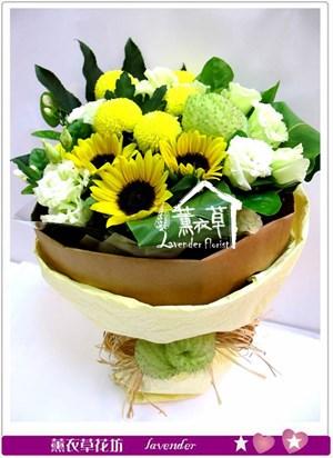 巷日葵花束aa600