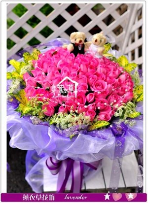 紫玫瑰99朵c111501