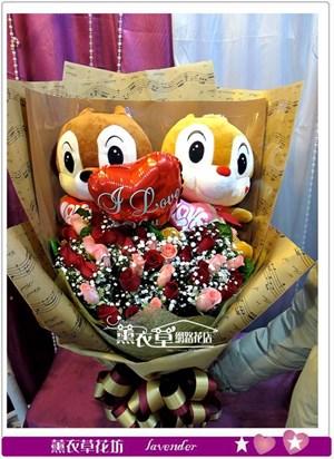 奇奇蒂蒂&玫瑰33朵y33894