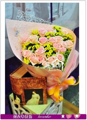 粉玫瑰花束a062905