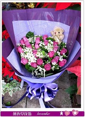 紫玫瑰20朵花束b121212