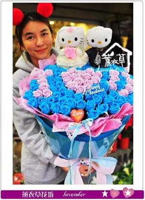 香氛玫瑰101朵~凱蒂貓結婚款B122320