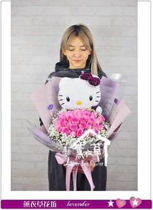 凱蒂貓&33朵玫瑰 106120618