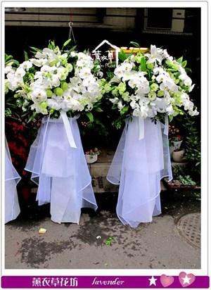蝴蝶花藍設計一對C030208