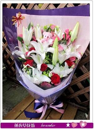 香水百合花束c071019