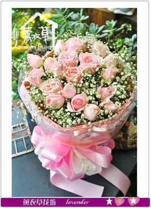 粉玫瑰花束~特賣aa5319