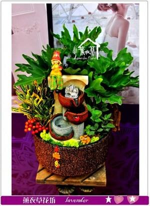 天使盆栽&流水設計a011622