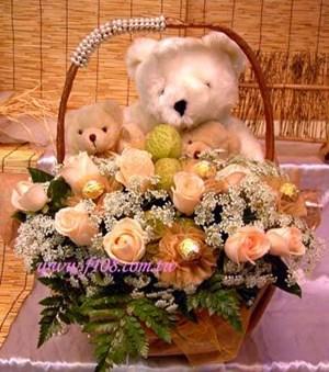 台北花店-花霖花坊-G121一窩可愛的熊