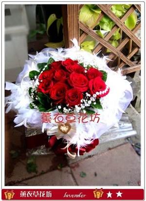 紅玫花束G862