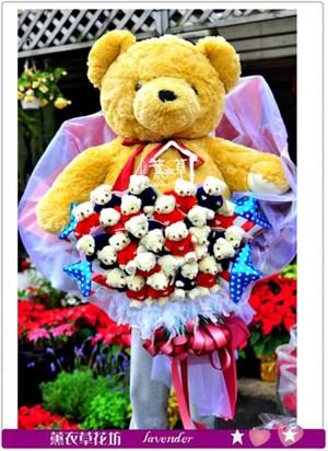 豪華熊熊花束c121102
