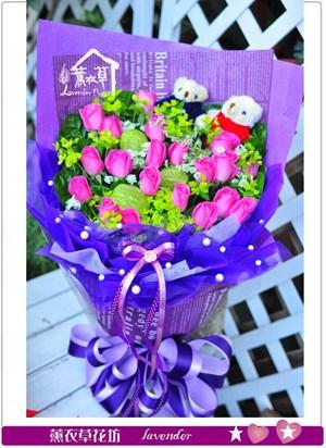 紫玫瑰花束c121702