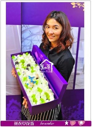 歐式花盒設計~66朵A032706