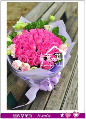 紫玫瑰花束G769