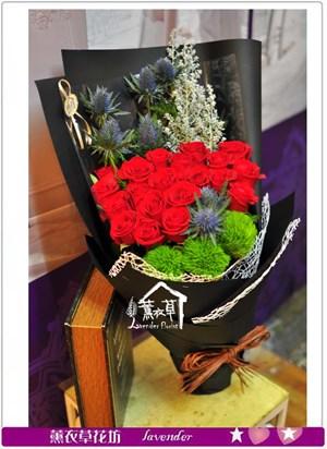 紅玫瑰花束A121516