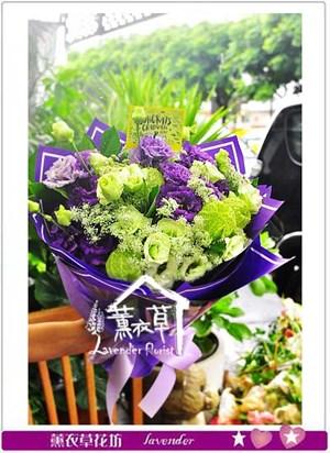 綠桔梗&紫桔梗設計~免運~y33515