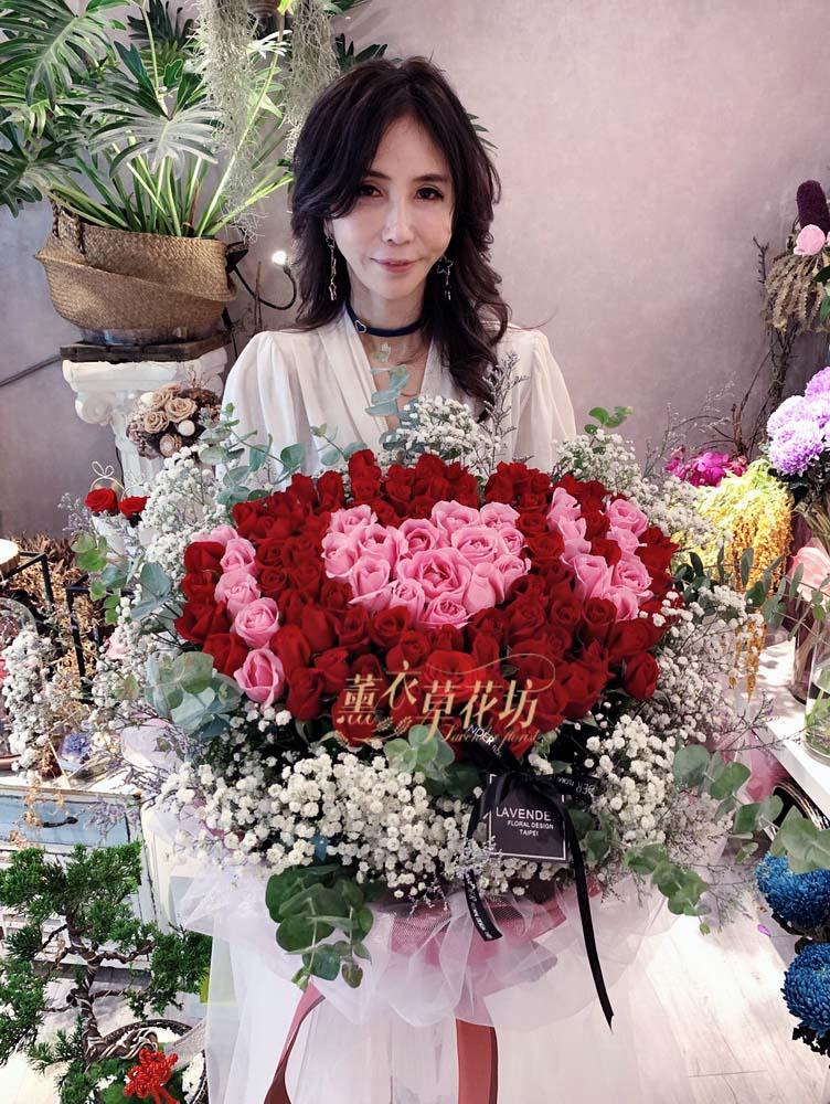 100朵花束設計/求婚/告白/生日/108052108