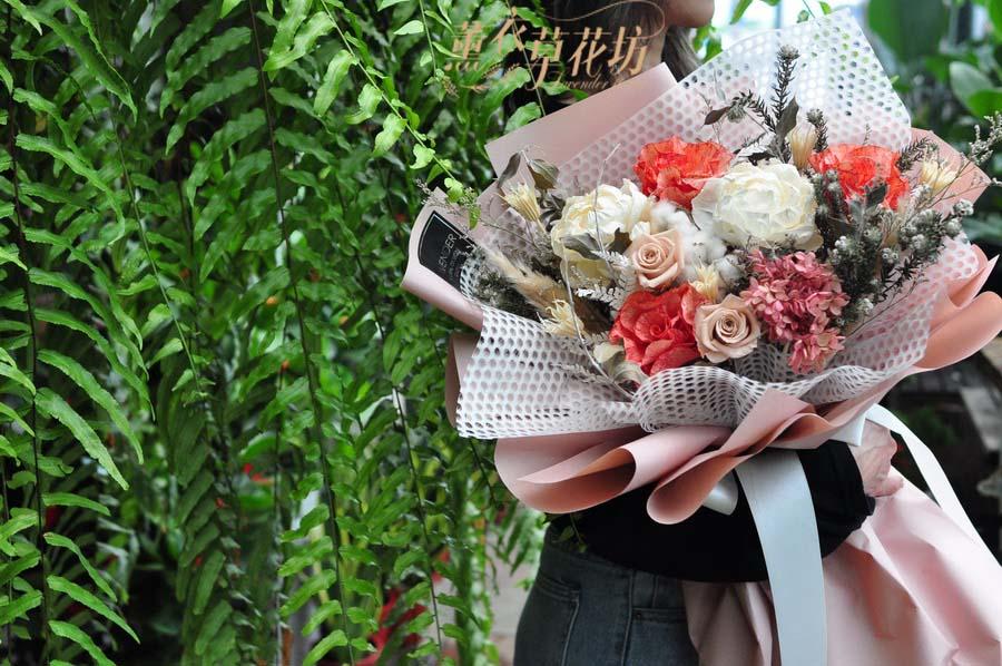 乾燥花花束設計 108072419