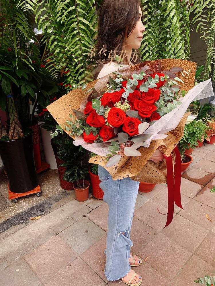 荷蘭~空運進口玫瑰花花束108083017