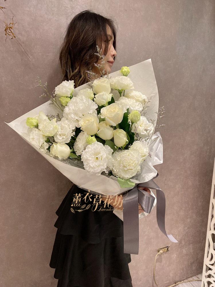 玫瑰&桔梗花束設計109020324