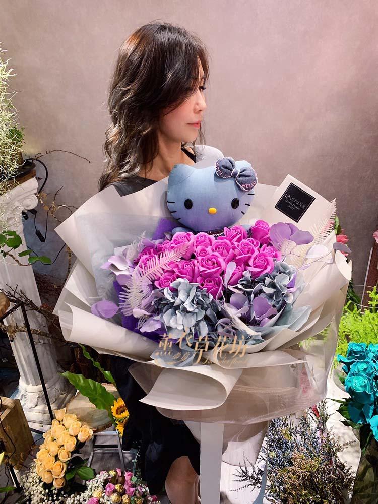 凱蒂貓&香造花&乾燥花設計108080643