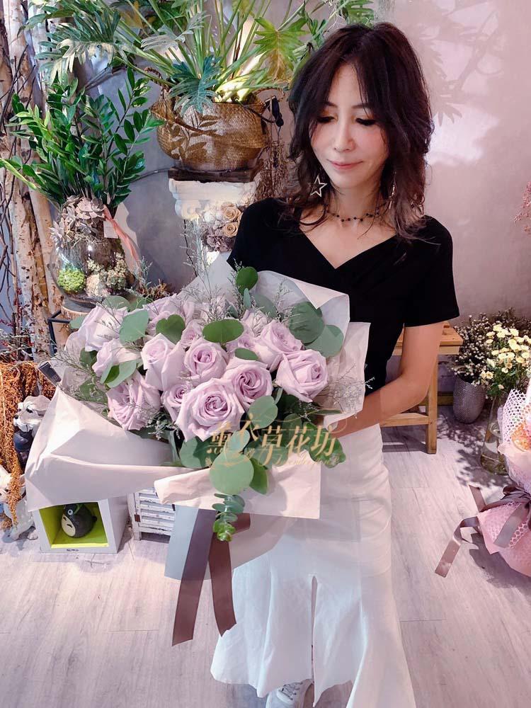 荷蘭進口紫色玫瑰108060508