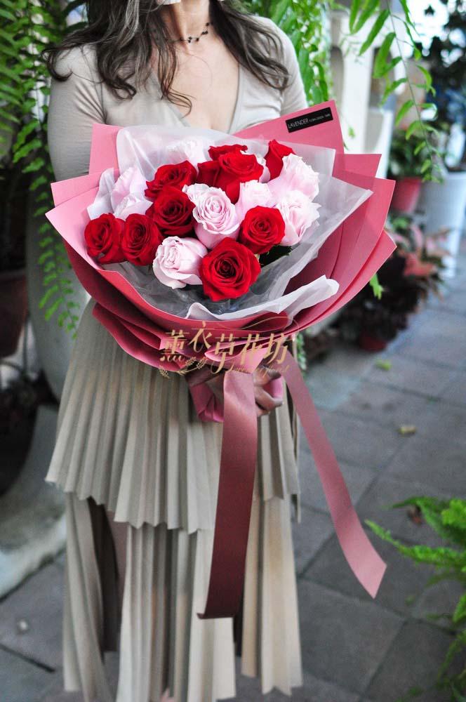 荷蘭進口玫瑰花花束108111606