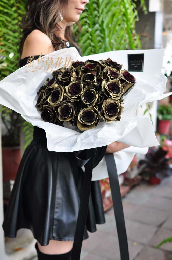 荷蘭進口金屬玫瑰花束108112402