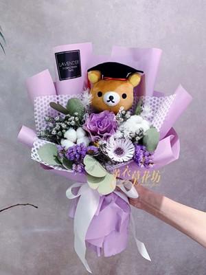 拉拉熊乾燥花束108061415